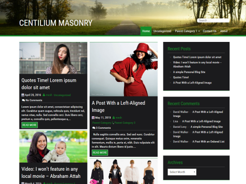 Centilium Masonry WordPress Theme