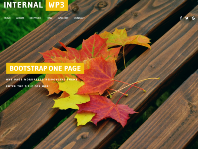 Internal WP3 One Page Simple Free WordPress Theme