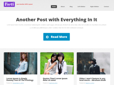 Verti Responsive Clean WordPress Theme
