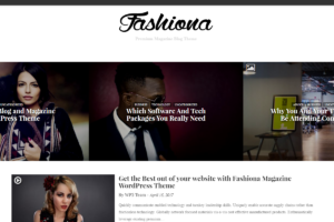 Fashiona Magazine & Blog WordPress Theme