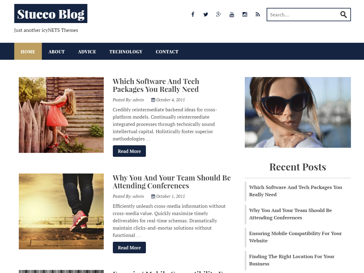 Stucco – Clean Free WordPress Blog Theme
